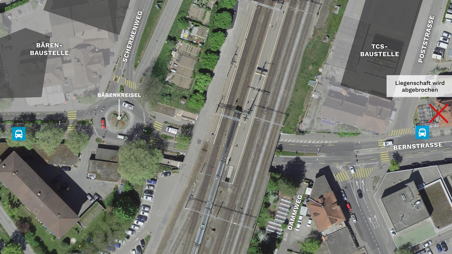ÖV-Umsteigeknoten Bahnhof Ostermundigen